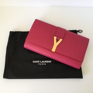 "YSL Ligne ""Y"" Macho Clutch Bag"